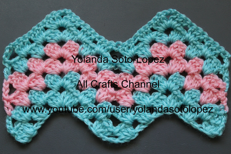 #Crochet Granny Ripple Pattern