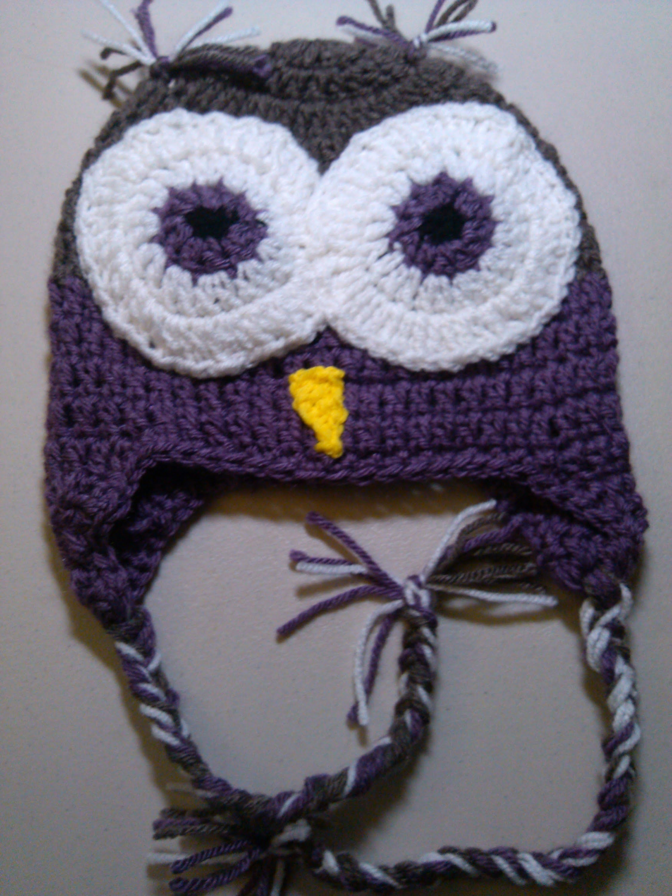 Crochet Owl Beanie   -  Part  1