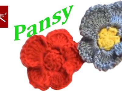 Crochet Pansy Flower Variation 1 Crochet Geek