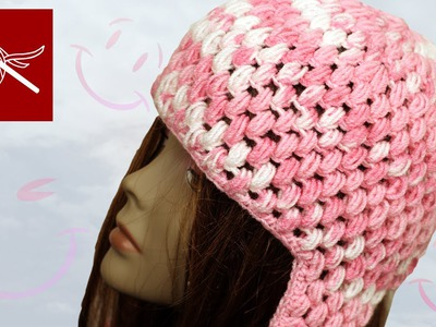Crochet Puff Stitch Cap with Ear Flaps Crochet Geek