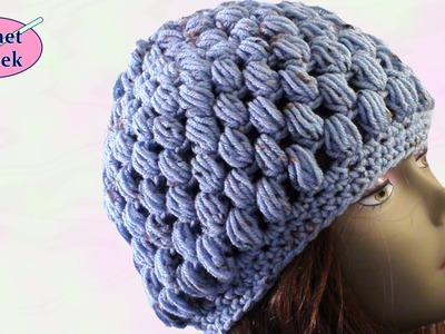 Crochet Puff Stitch Hat Crafting - Crochet Geek August 7