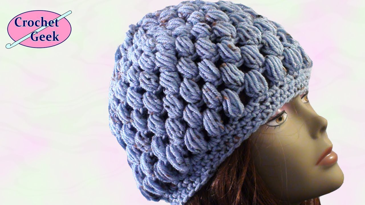 Crochet Puff Stitch Hat Crafting - Crochet Geek August 7