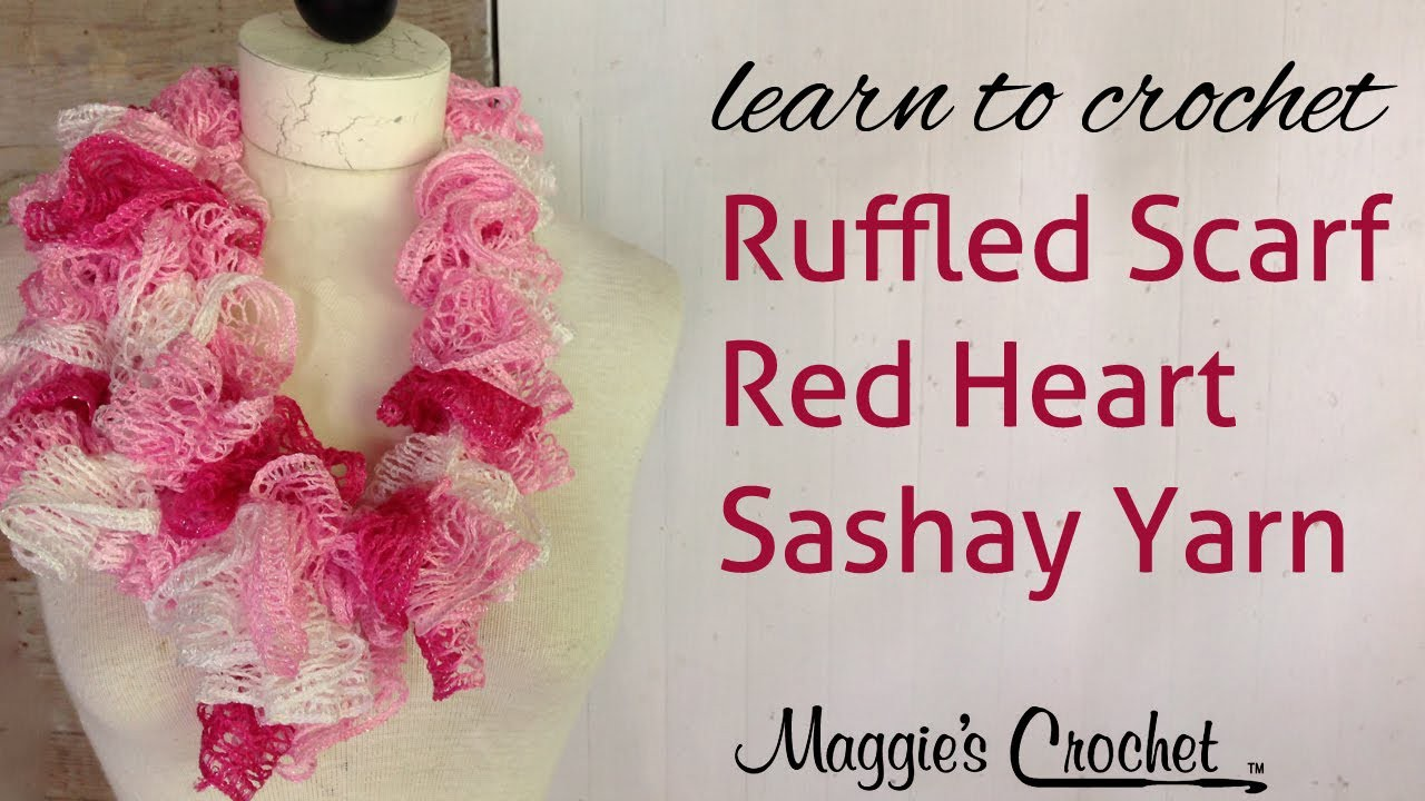 Crochet Red Heart Boutique Sashay Yarn Ruffle Scarf