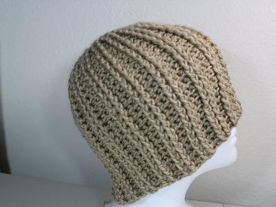 #Crochet rib hat