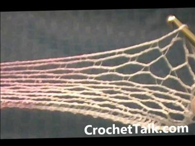 Crochet Ruffle Scarf CrochetTalk.com