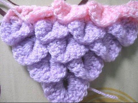Crocodile Stitch Shawl Tutorial - Learn to Crochet