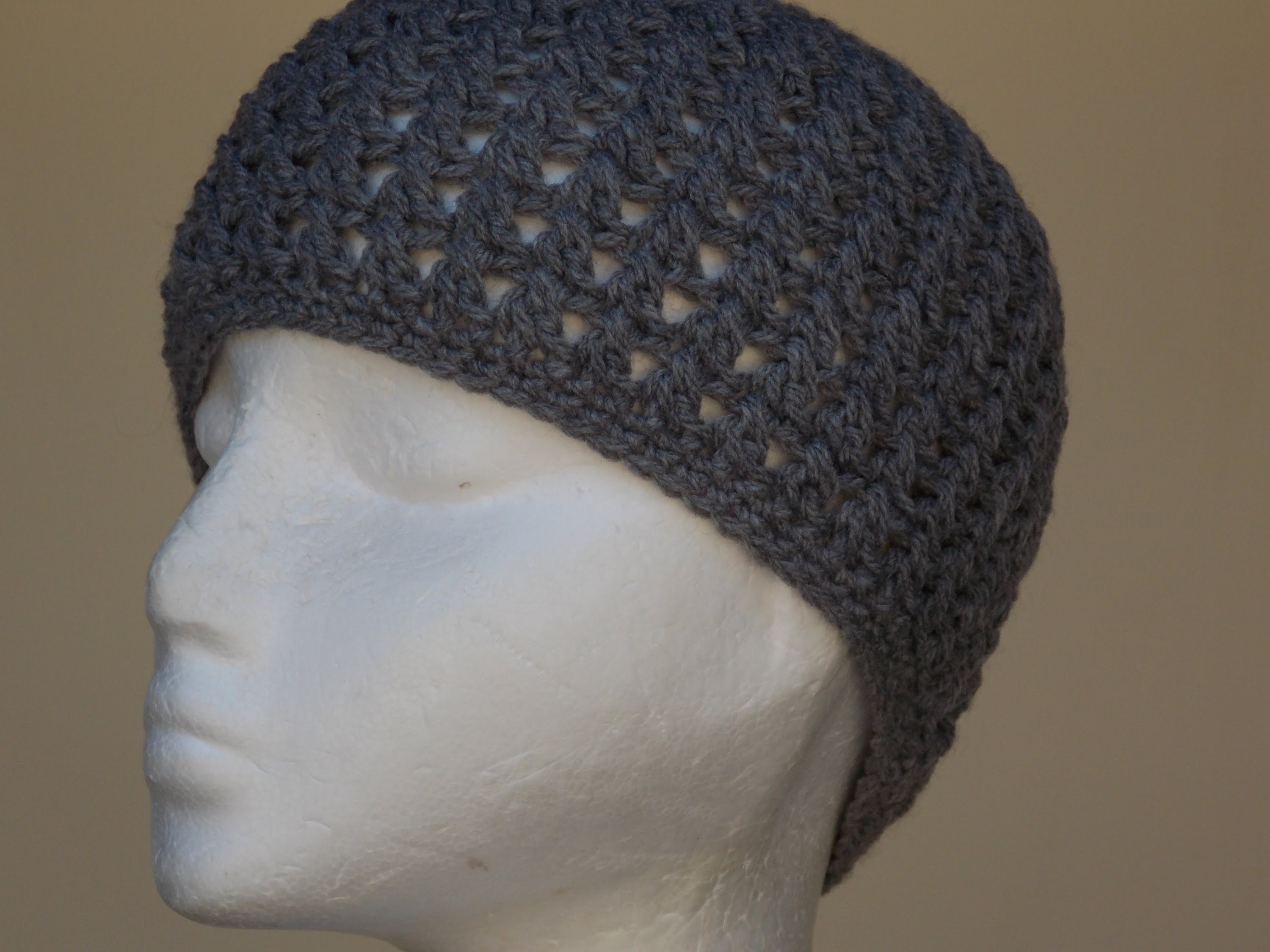 Cross Stitch Hat Crochet Tutorial
