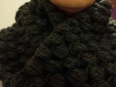 Cuello circular a Crochet. Punto Pouf (Subtitulado Español)