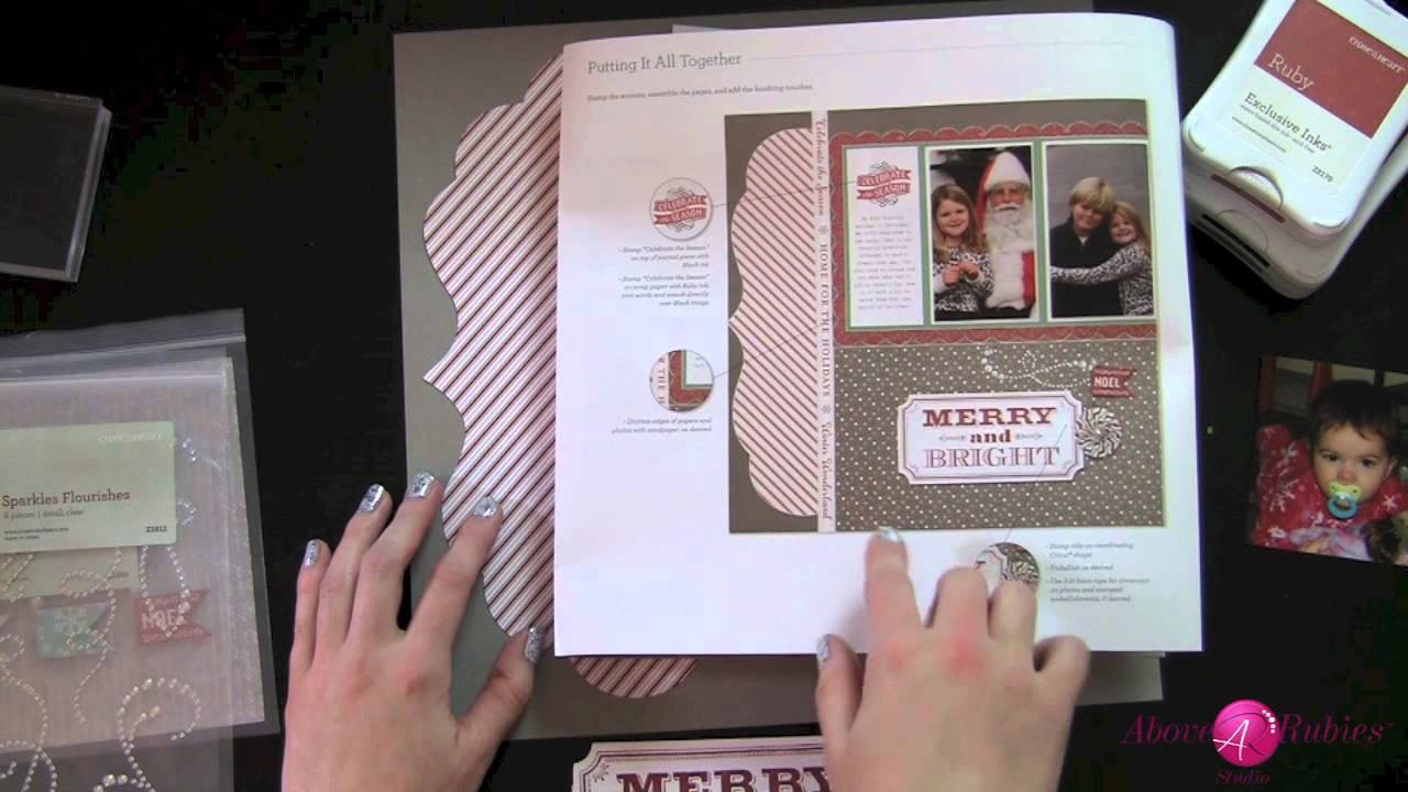 Day 7 How to Use CTMH Scrapbooking Kits and Stamp Fabulous Christmas Layouts AboveRubiesStudio