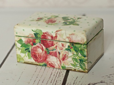 Decoupage tutorial - tea box