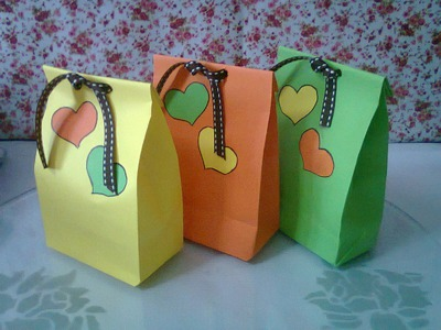 DIY : #1 Cute Paper Bags For Gift ♥