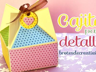 DIY : Caja para detalle o regalo. dulcero *Scrapbook*