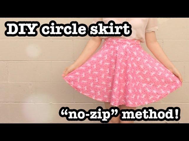 DIY Circle Skirt (no-zip method)