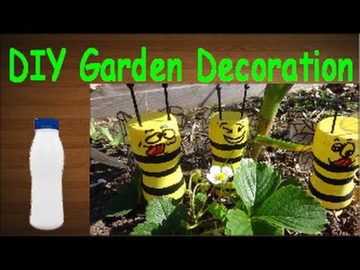 DIY Crafts: Recycling Plastic Bottles Funny Honeybees for Your Garden Decoration