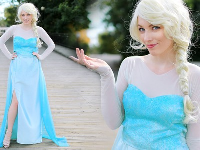 DIY ELSA FROZEN COSTUME - ADULT & CHILD