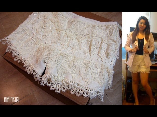 DIY Fashion: How to make Crochet Lace Shorts