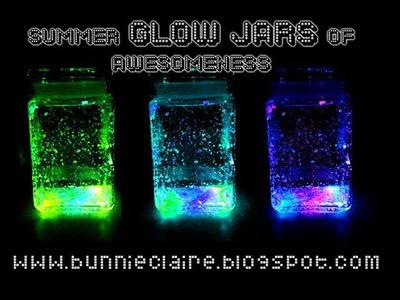 DIY FIREFLY JARS! Glow jars! Perfect for summernights!
