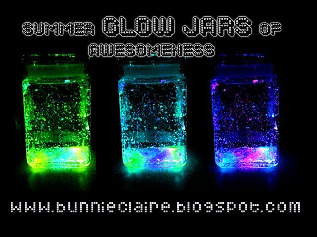DIY FIREFLY JARS! Glow jars! Perfect for summernights!