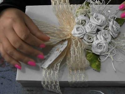 DIY: Flores de caixa de leite, craft flower, vintage peper roses