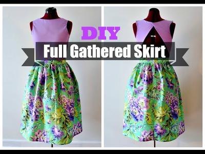 DIY Full Gathered Skirt (NO PATTERN NEEDED)