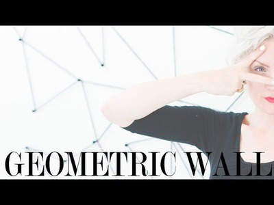 DIY Geometric Accent Wall Tutorial