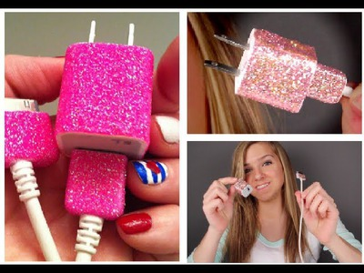 DIY Glitter iPhone Charger Tutorial!