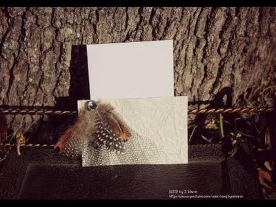 DIY Handmade Card: Quick card to make using Scrapbook.Cardstock Paper