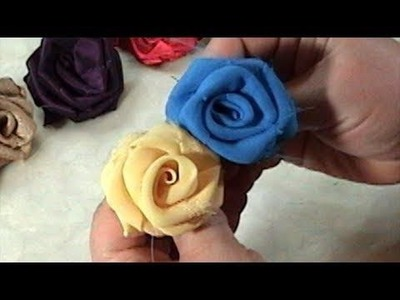 DIY, How to make Fabric Flowers Roses, Tutorial, DIY