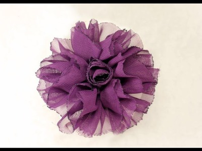 DIY, How to make Shaby Chic Fabric Flower, Tutorial