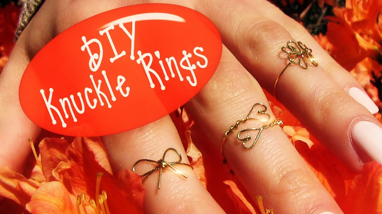 DIY Knuckle Ring! How to Make Wire Rings (3 Rings: Clover, Heart and Bow)