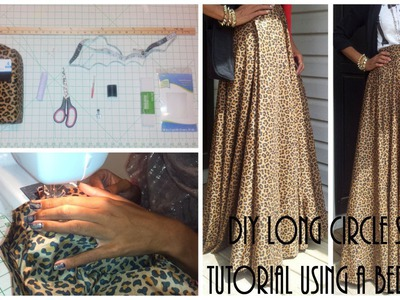 DIY| Long Circle Skirt Tutorial Part 1 | Using a Bed Sheet