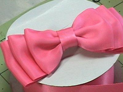 DIY Make Hair Bow, Ribbon bow, Bow Tie, Tutorial #1, DIY
