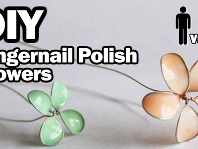 DIY Nail Polish Flowers - Man Vs. Pin #11