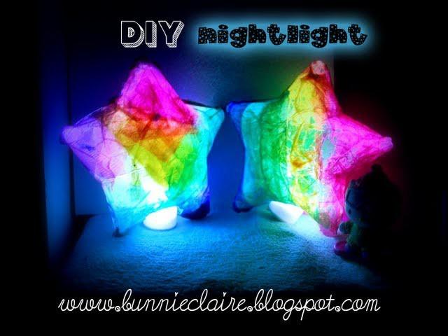 DIY nightlight for kids! Star shaped paper lanterns! CUTE!! Luminary KIDS CRAFT