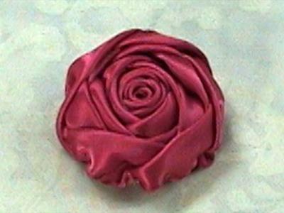 DIY Ribbon Rose, Tutorial, DIY, Rose Bud How to make