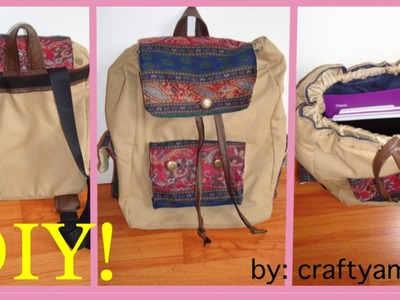 DIY RuckSack Tutorial-Back to School (with jeans and canvas)