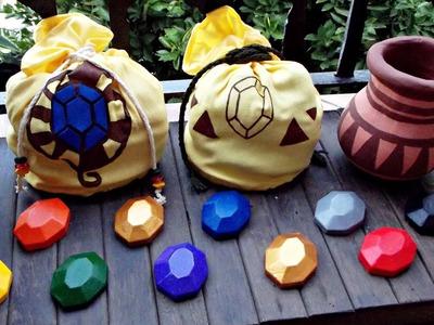 DIY - Rupee, vaso e bolsa - The Legend Of Zelda