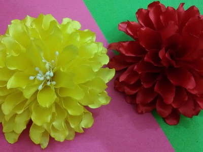 D.I.Y. Satin Dahlia Flower - Tutorial