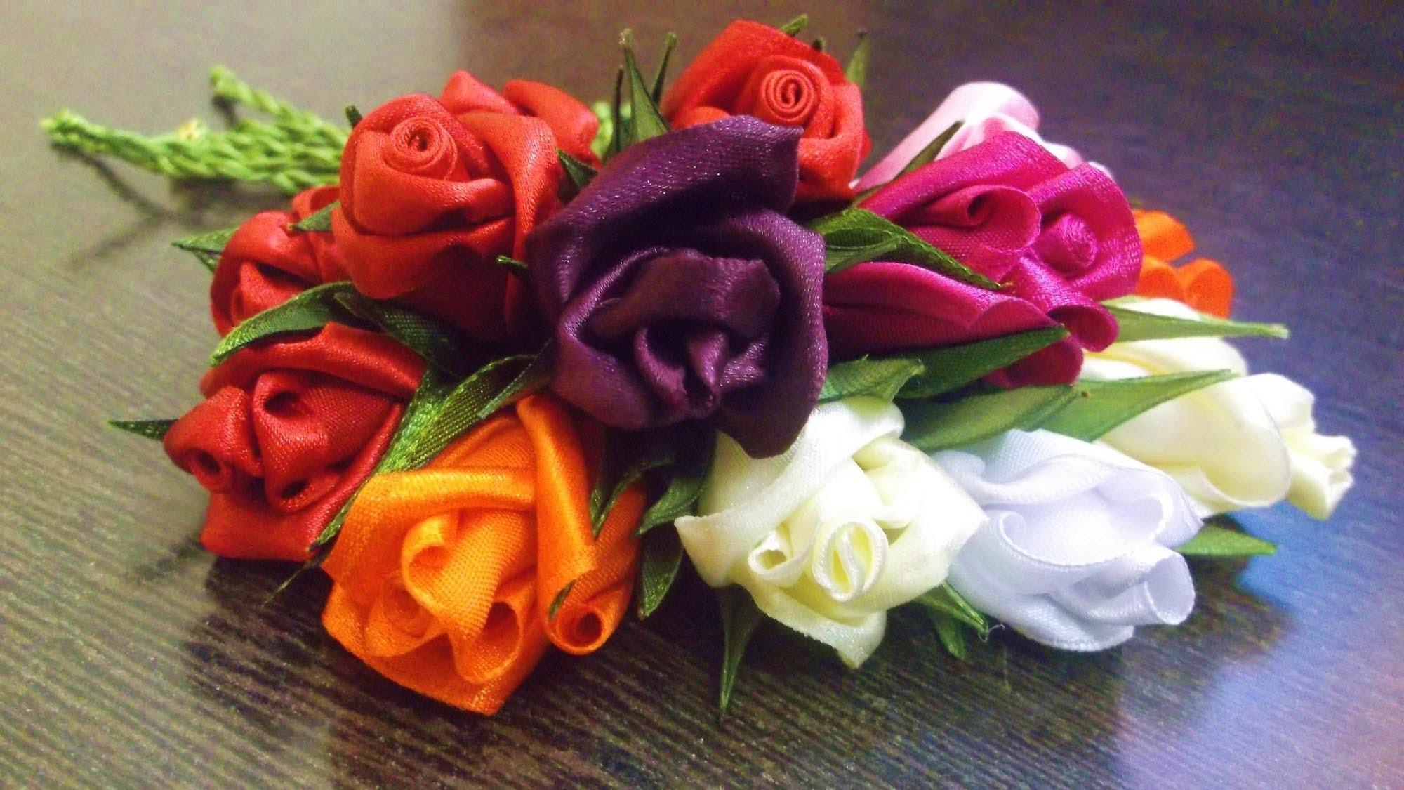 D.I.Y. Satin Rose Sling Charms - Tutorial
