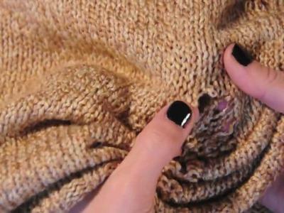 DIY - shredded sweater - DIY FASHION TUTORIAL VIDEO