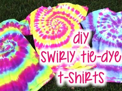 DIY Swirly Tie-Dye T-Shirts | How To | Tutorial