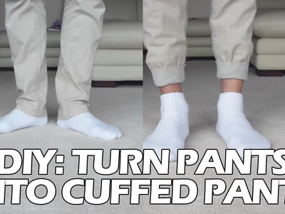 "DIY: Turn Pants into ""Jogger"" Style Cuffed Pants"