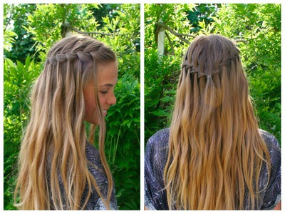 DIY waterfall braid tutorial - HairAndNailsInspiration