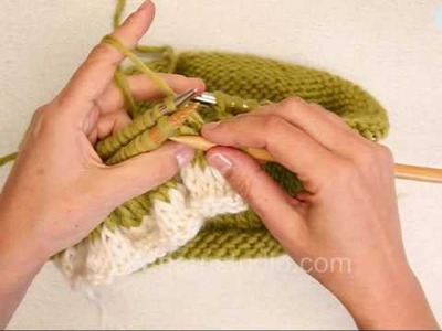 DROPS Knitting Tutorial: How to add a flounce