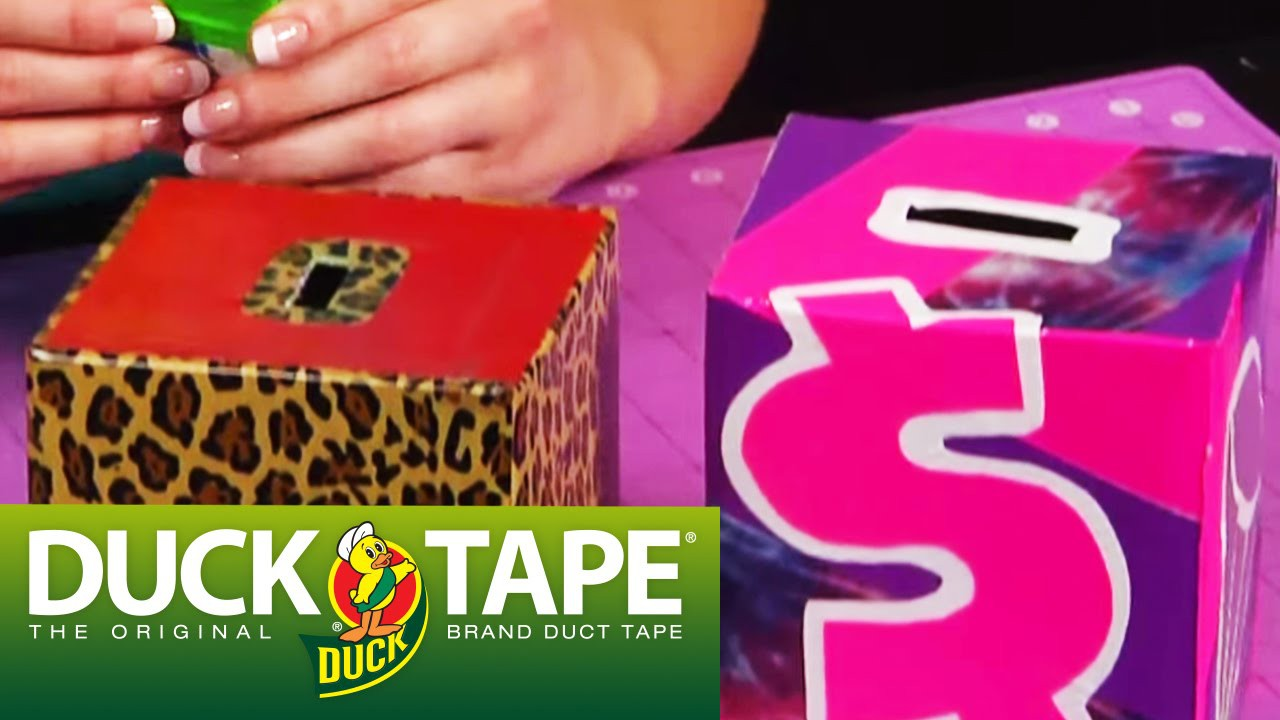 Duck Tape Craft Ideas: How to Make a Coinbank