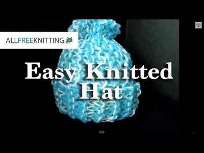 Easy Beginner Knitted Hat