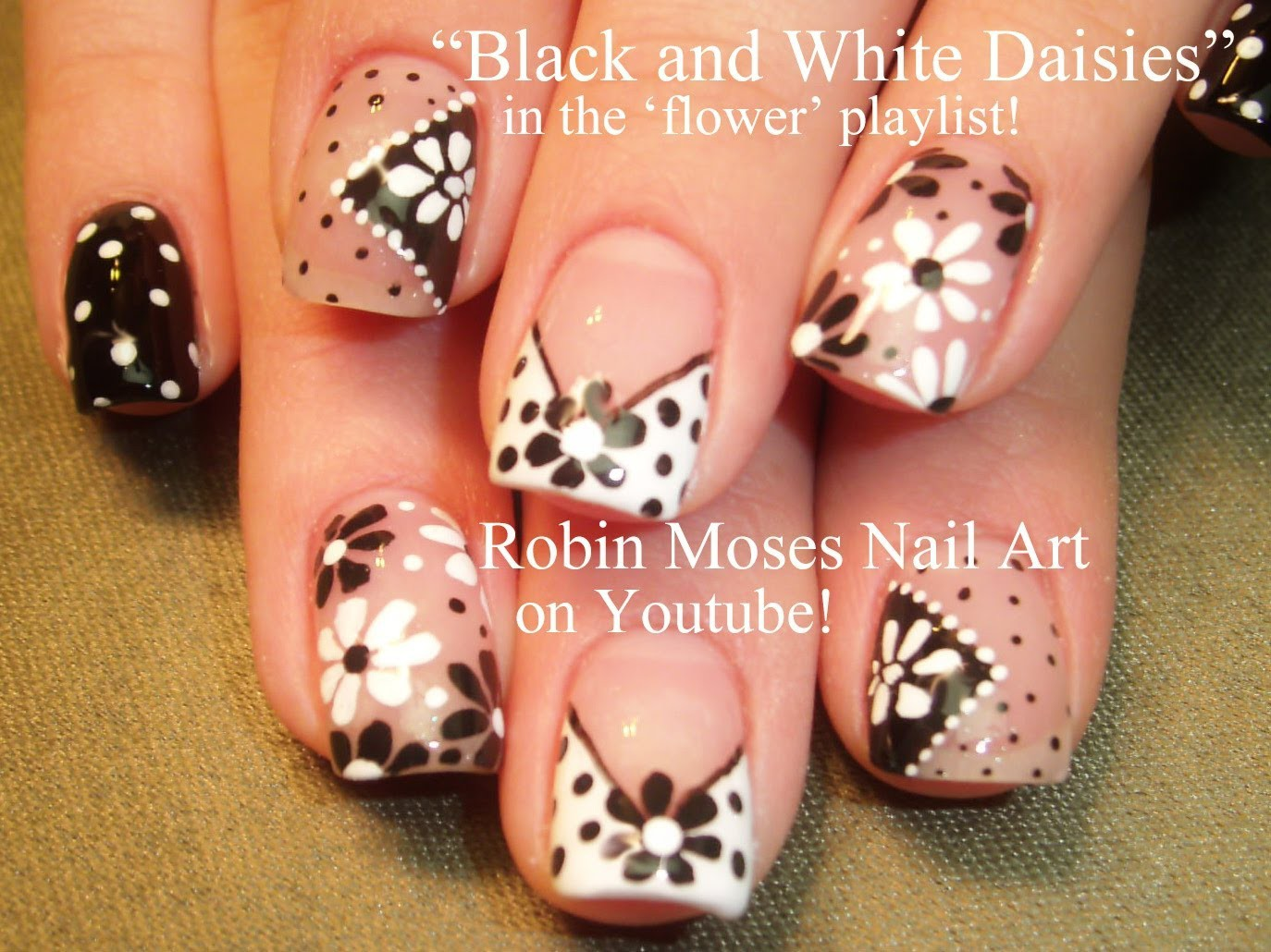 Easy Nail Art for Beginners!!! DIY Flower Nails Design Tutorial