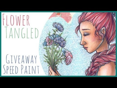 """""""Flower Tangled"""" - Third Prize Giveaway Art Speed Drawing!"""