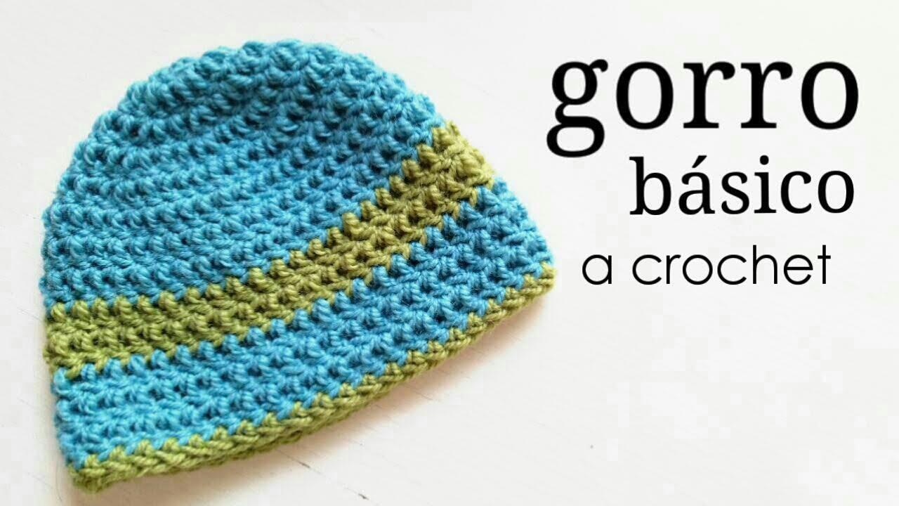 Gorro Básico a Crochet - TODAS LAS TALLAS - Paso a Paso