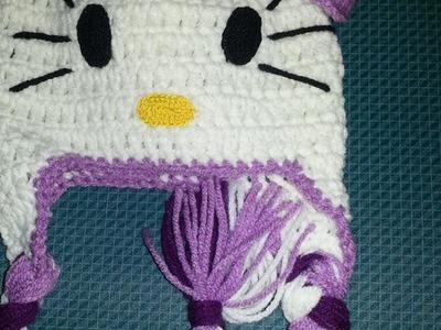 Gorro Hello Kitty a Crochet